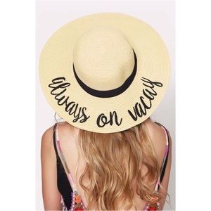 🆕Always On Vacay Embroidered Floppy Sun Hat